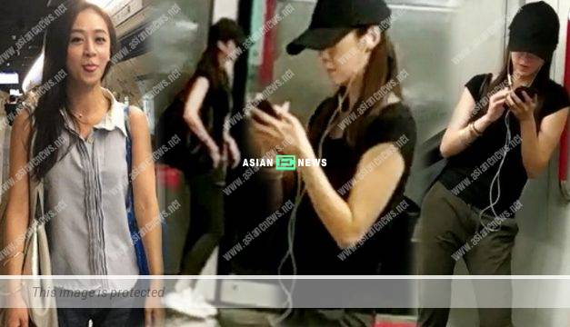 Scarlett Wong looks lonely when taking the train ride alone