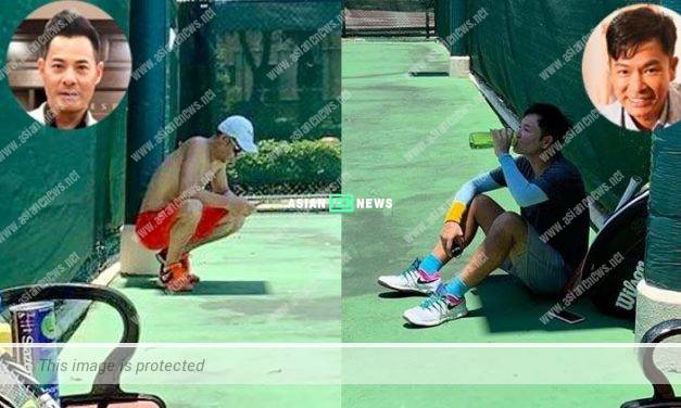 Ben Wong removed his top while playing tennis with Roger Kwok