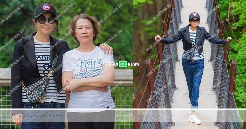 Carina Lau takes her mother to Vancouver for holidays