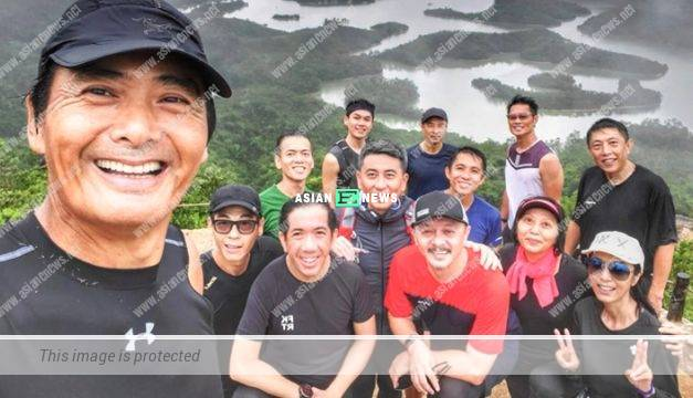 Chow Yun Fat continues hiking; Michelle Yim is happy with his plan