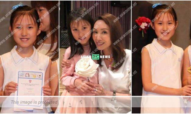 Kenix Kwok feels proud of her daughter receiving scholarship and trophy