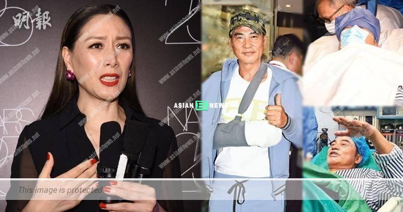 Qi Qi was the last person to know when her husband, Simon Yam was injured