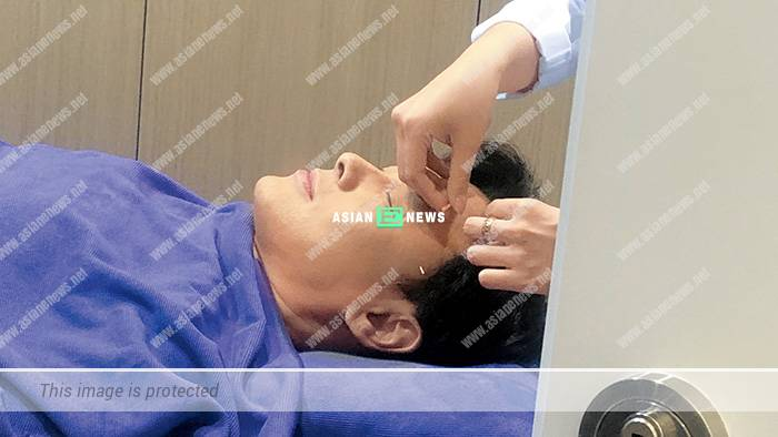 Raymond Cho's body is injected more than 100 needles to maintain his baby face