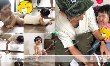 Sam Lee's daughter tried to exercise; It won compliments from the netizens