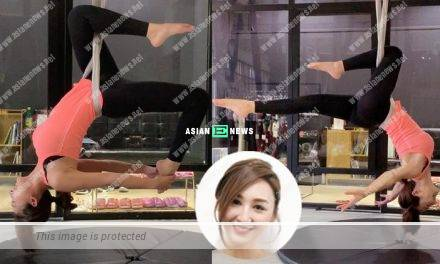 Samantha Ko performs aerial yoga easily; Netizens focus on her body figure