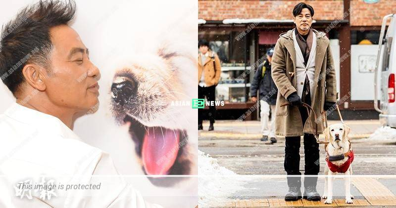 """Little Q film: Simon Yam learned """"dog language"""" to communicate with the guide dog"""