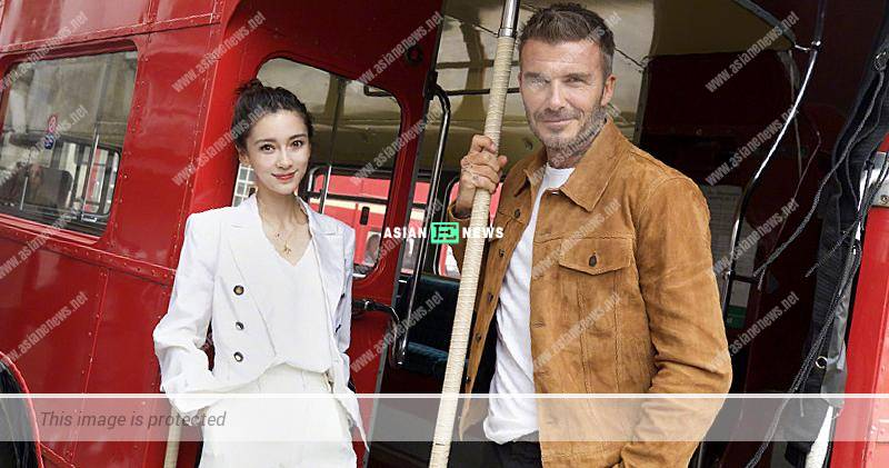 Angelababy and David Beckham filmed advertisement together in London