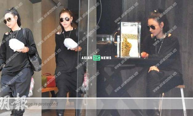 Cecilia Cheung is unhappy when the reporters take photos of her