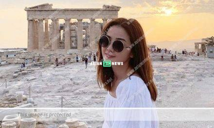 Charlene Choi's wish is granted; She travels to her favourite country, Greece