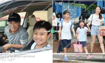 Roger Kwok fetched his children from the school during his free time