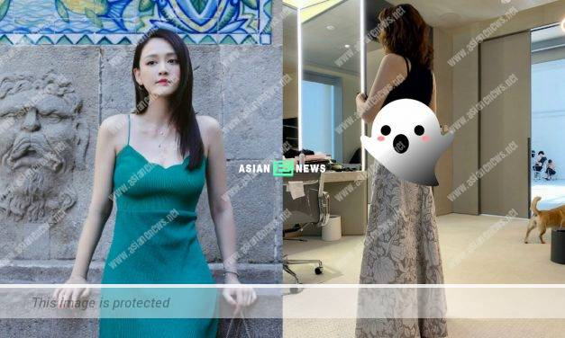 Taiwanese actress Joe Chen shows her tiny waist after losing weight successfully
