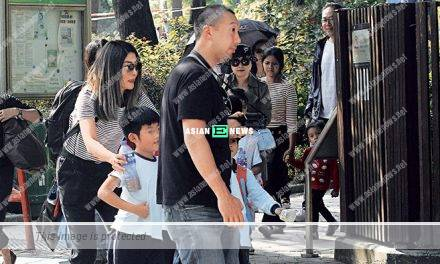Kelly Chen's sons study in an international school which received a bomb threat