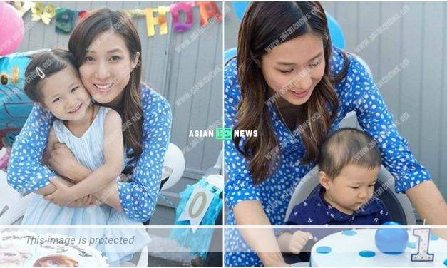 Linda Chung held a birthday party for her children