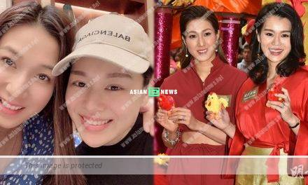 Linda Chung and Myolie Wu had dinner together in Canada