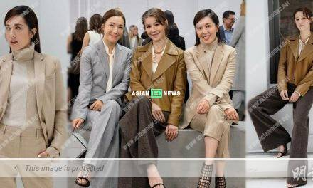 Priscilla Wong and Natalie Tong feel honoured to attend a fashion show
