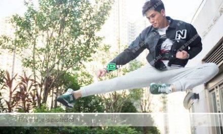 Action star Philip Ng is famous for his kicking skills