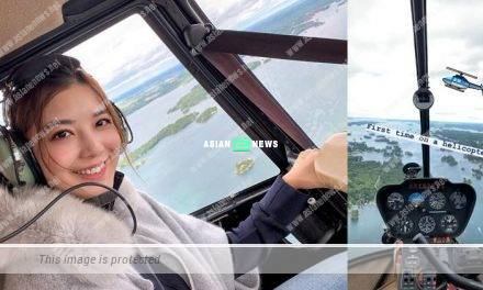 Phoebe Sin felt nervous when sitting in a helicopter for the first time