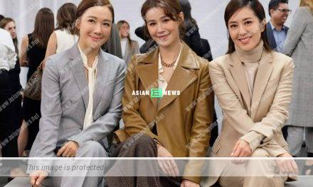 Priscilla Wong and Natalie Tong bumped into Selena Lee at the fashion show