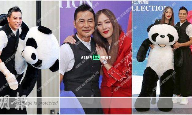 Simon Yam gave a gigantic panda soft toy to his wife, Qi Qi