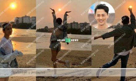 Raymond Lam and his girlfriend, Carina Zhang watched the sunset together