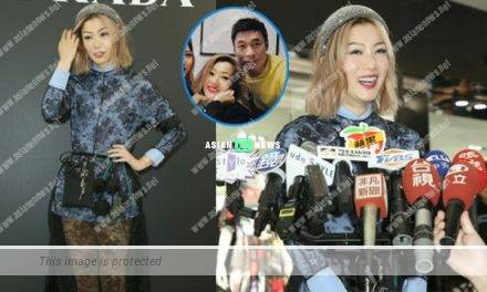 Sammi Cheng smiled sweetly and felt relaxed after holidaying with her husband, Andy Hui