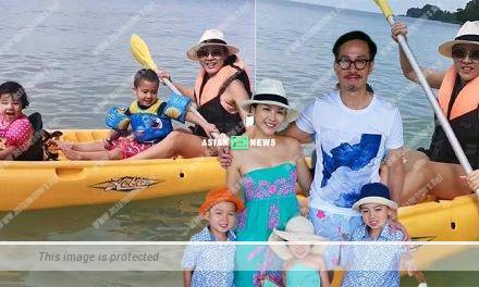 Aimee Chan and her children went for canoeing