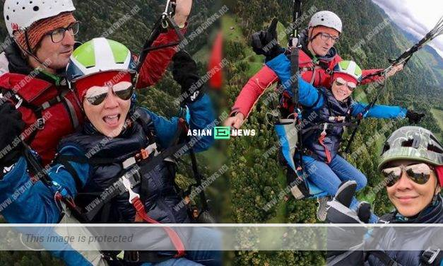 Carina Lau goes for parachuting: Overcoming your phobia is meaningful