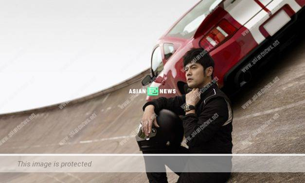 Jay Chou transformed into a car racer in a luxury watch advertisement
