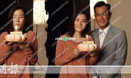 Louis Koo held a belated birthday celebration for Jessica Hsuan