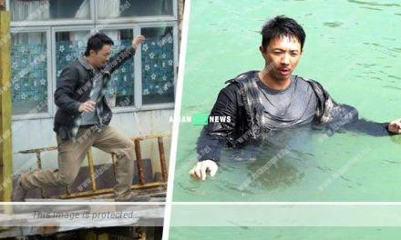 Louis Cheung thanked the film director when shooting jumping into the water scene