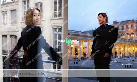 Nancy Wu shows her good fashion sense at the fashion show in Paris