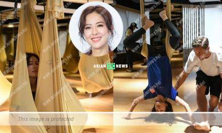 Natalie Tong falls in love with aerial yoga: It is a positive feeling