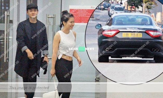 Owen Cheung drives a luxury car to fetch his girlfriend