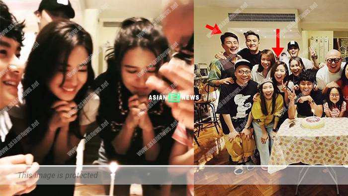 Natalie Tong and Tony Hung were at Priscilla Wong's birthday party
