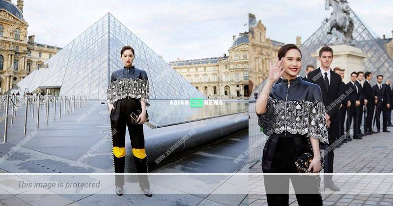 Rainie Yang is no longer a cutie pie at the fashion show in Paris