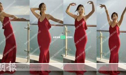 Is Samantha Ko wearing any bra? She danced beautifully in a red dress