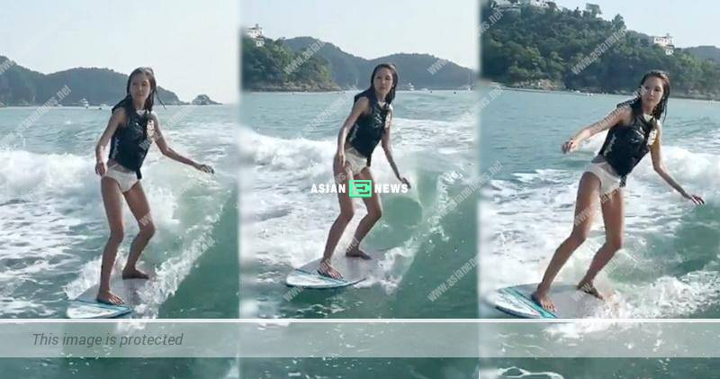 Toby Chan continues to play water skiing after her injury