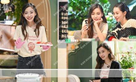 "Angelababy transforms into a pretty ""culinary goddess"""
