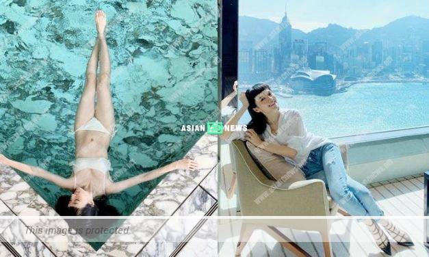 Anjaylia Chan wears sexy swimsuit: Floating helps to reduce stress