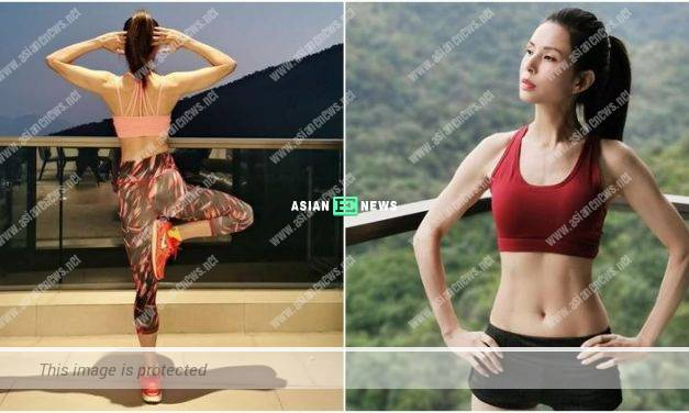 Carmen Lee has a fit body figure by training in gym