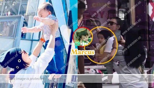 Cecilia Cheung took her son, Marcus to Sentosa in Singapore