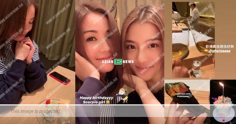 Charlene Choi drinks wine to dismiss the pregnancy rumours?