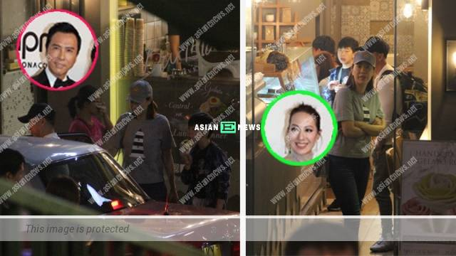 Donnie Yen and his wife took their son to an ice-cream store