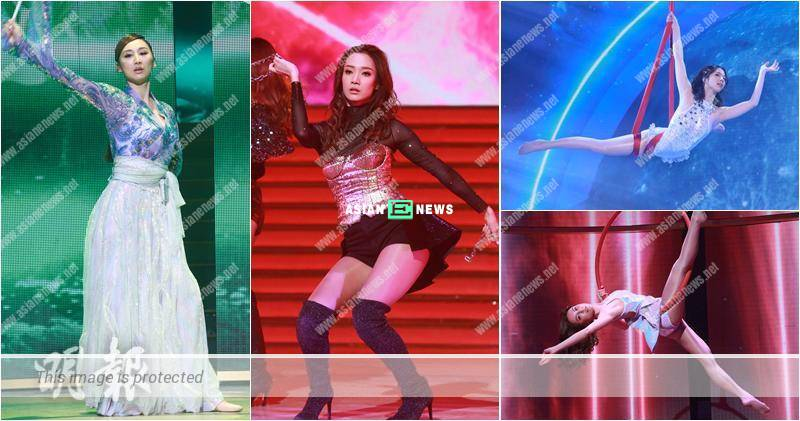 Kelly Cheung stole the limelight when performing dancing