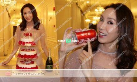 Kenix Kwok turned 50 years old and received a soft drink with her name engraved