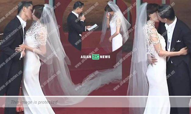 Lin Chi Ling is married and cried during her wedding