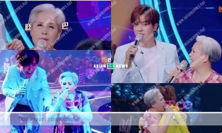 Show Luo's mother gave flying kisses to the audiences