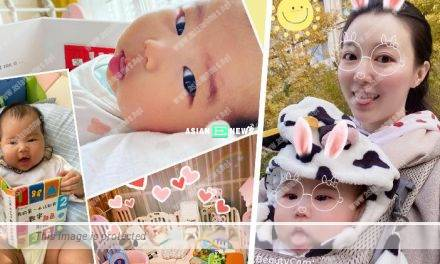 Sire Ma takes good care of her 4 months old daughter