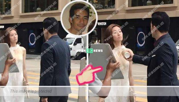 Poor Yoyo Chen was splashed with coffee in TVB drama