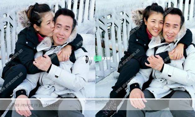 Aimee Chan hugged and kissed Moses Chan: Love you baby